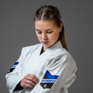 hyperfly bjj gi ladies premium 3.0 white 2