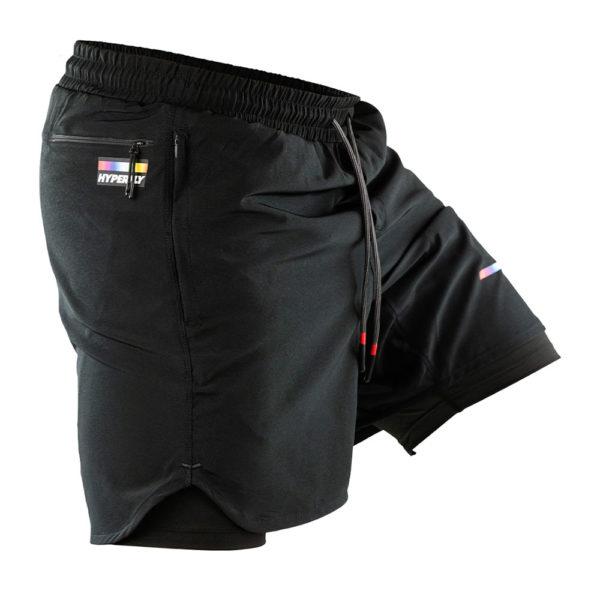 hyperfly athletic shorts icon black 4