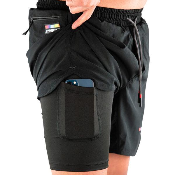 hyperfly athletic shorts icon black 7