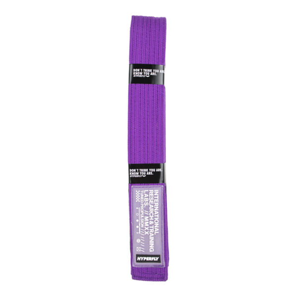 hyperfly bjj belt ycth purple 1