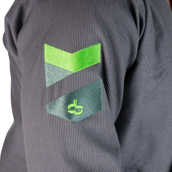 hyperfly bjj gi hyperlyte 2 0 grey matrix green 3