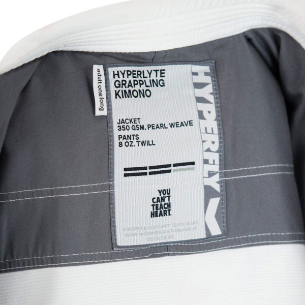 hyperfly bjj gi hyperlyte 2.5 white grey 8