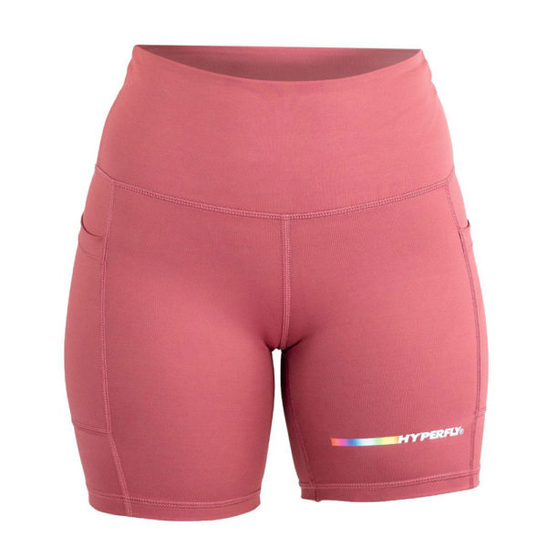 hyperfly flygirl athletic shorts 2.0 dusty rose 1