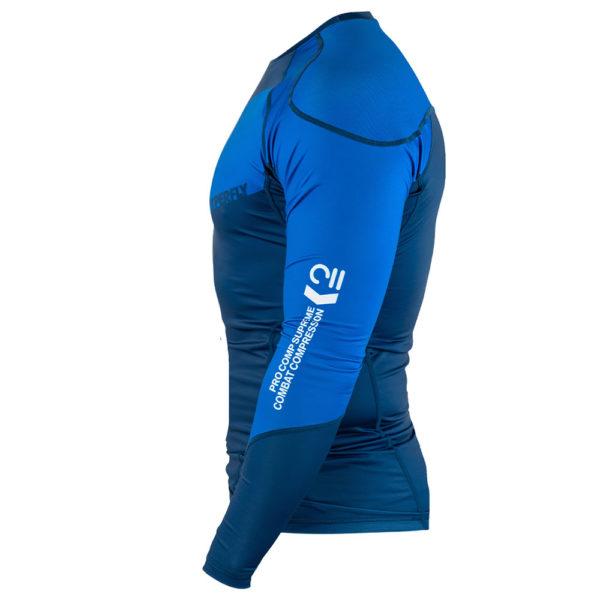 hyperfly rashguard procomp supreme long sleeve blue 4