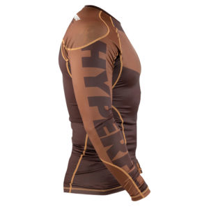 hyperfly rashguard procomp supreme long sleeve brown 2