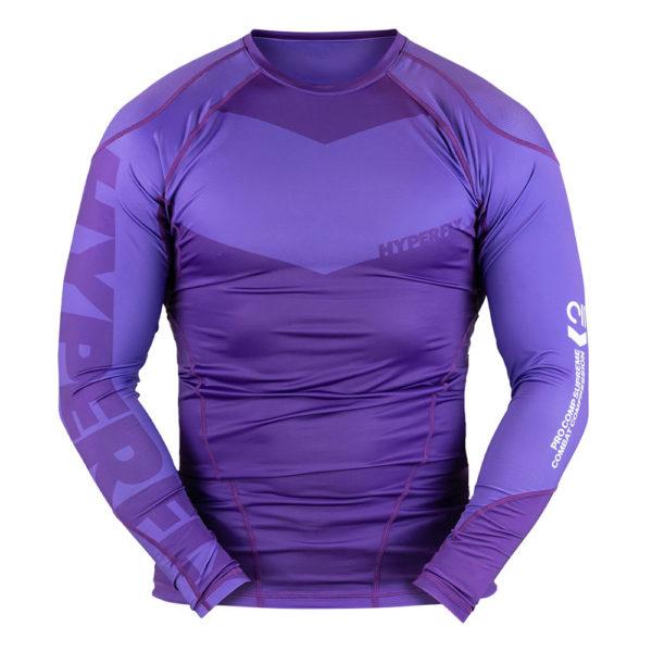 hyperfly rashguard procomp supreme long sleeve purple 1