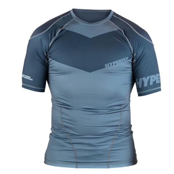 hyperfly rashguard procomp supreme short sleeve grey 1