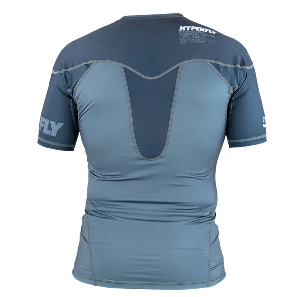 hyperfly rashguard procomp supreme short sleeve grey 3