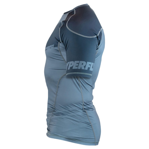 hyperfly rashguard procomp supreme short sleeve grey 4