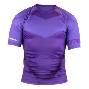hyperfly rashguard procomp supreme short sleeve purple 1