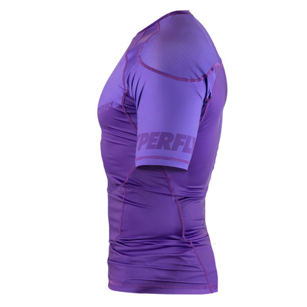 hyperfly rashguard procomp supreme short sleeve purple 4